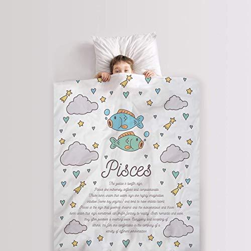 Legendary Life Weighted Pisces Zodiac Blanket Inscription Predicts Careers/Traits - Plush Soft Warm Fleece- Minky Dots Back- Unisex-Boys-Girls-Baby-Toddler-Children- Receiving-Swaddling-Security