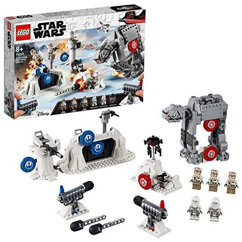 LEGO 75241 Star Wars Echo Base Defense Target Shooting Set Includes Mini Imperial at-at Walker from Episode 5 The Empire Strikes Back, Colourful