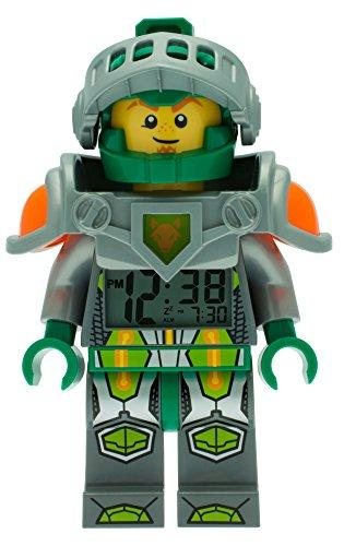 LEGO Nexo Knights 9009426 Aaron Kids Minifigure Light Up Alarm Clock | green/grey | plastic | 9.5 inches tall | LCD display | boy girl | official