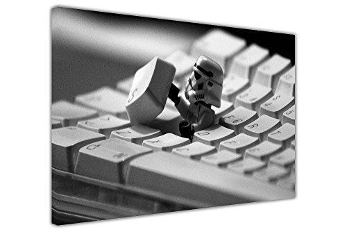 LEGO STAR WARS IMPERIAL STORM TROOPER IN KEYBOARD KIDS CANVAS PRINTS WALL ART PICTURES ROOM DECORATION POSTER PRINT POP ART PHOTO PRINTING BLACK WHITE