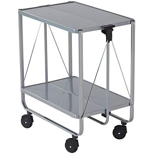 Leifheit Side Car Collapsible Serving and Equipment Trolley - Silver