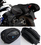Leisure Pursuits Saddle Bags Expandable Throw Over Panniers Saddlebag Motorcycle Travel Luggage