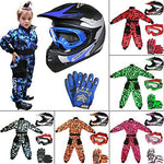 Leopard LEO-X19 PREDATOR { Kids Motocross Helmet & Gloves & Goggles - Pink S } Child Dirt Bike Motorocycle Helmet Clothing Suit M(7-8 Yrs)