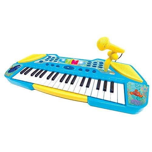Lexibook Disney Finding Dory Marlin Electronic Keyboard with microphone, Light effects, Battery, Blue/Yellow, K710DO