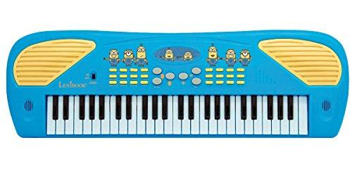 Lexibook Universal Despicable Me Minions Electronic Keyboard, 10 demo songs, Mic and MP3 jack, Blue/Yellow, K723DES