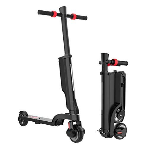 Lhcar Foldable Electric Scooter 250W 24V 6Ah Electric Kick Scooter with Detachable Battery and Bluetooth Speaker