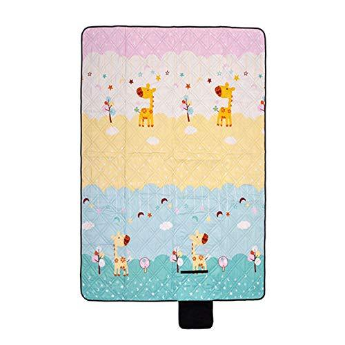 LIAN Store Portable Pads Camping Blanket Printed Park Outdoor Mattress Ultrasonic Ground Machine Washable Cushion Family Beach Picnic Mat,Giraffe