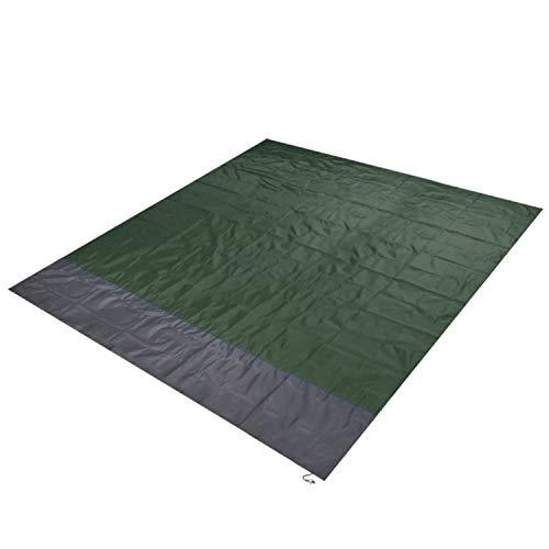 LIAN Store Waterproof Beach Blanket Outdoor Portable Picnic Mat Camping Ground Mat Mattress Outdoor Camping Picnic Mat Blanket,Army Green,L