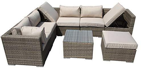 LIAN Wicker Greenhouse Furniture Corner Terrace Sofa Rattan Woven Garden Furniture Information (color : B)