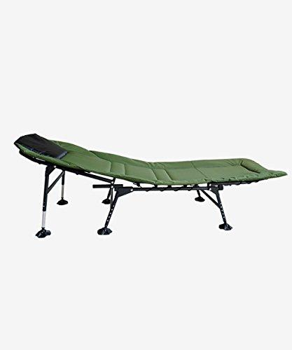 LIANJUN Camping Wide Bed Chair Waterproof And Fishing Accessory Beach Chair Army Green-L*W*H170*60 * 32-42cm(adjustable)