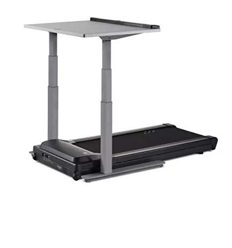 LifeSpan TR5000-DT7 Desk Treadmill and Standing Desk with Manual Ergonomic Height Adjust, Smart Tracking and More