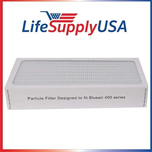 LifeSupplyUSA 50 Air Purifier Filters fit All Blueair 400 Models 400PF, 401, 401PF, 410B, 402, 403, 410, 450E, 455, 455EB