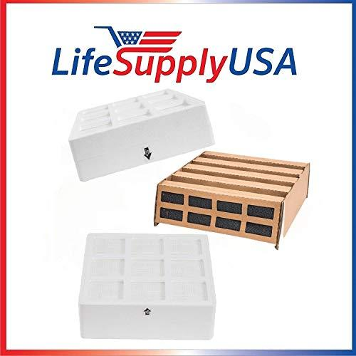 LifeSupplyUSA Complete Filter Replacement Kits (10) for IQAir HealthPro Plus Air Purifiers, Fits Parts 102-10-10-00, 102-18-10-00, 102-14-14-00 (10 Sets)