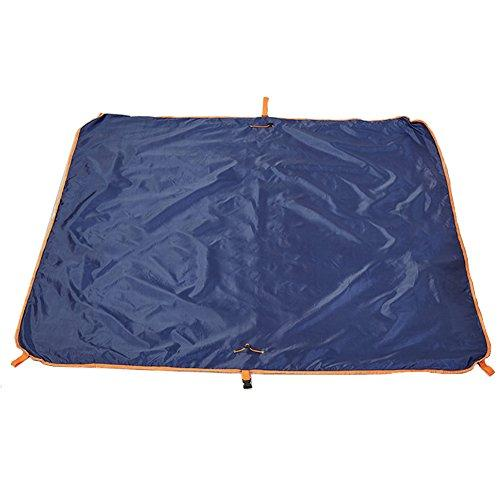 LIGHTOP Sand Free Rug Storage Rug Bag 58.4x58.4 Inches Travel Storage Bag Washable Dual Layers Multifunctional outdoor waterproof carpet for Outdoor Camping Hiking Beach Family Trips (Blue)