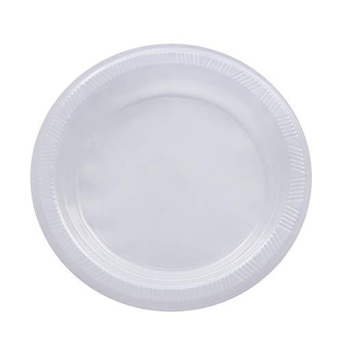 "Lightweight Disposable Plastic Clear Party Dinner Plates - 80 pack (10"" Large Dinner Plates)"