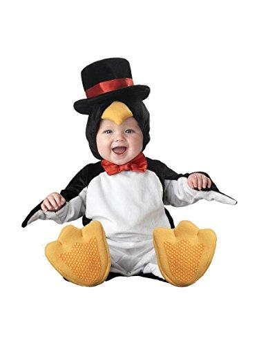 Lil Characters Unisex-Baby Infant Penguin Costume, Black/White/Yellow, Large