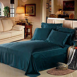 LILYSILK 100% Mulberry Silk Sheets Set 4pcs 19 Momme Dark Teal king