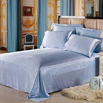 LILYSILK 100% Mulberry Silk Sheets Set 4pcs 19 Momme Light Blue king