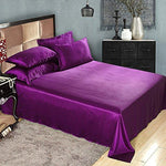 LILYSILK 100% Mulberry Silk Sheets Set 4pcs 19 Momme, Violet, Full