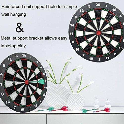 ... Limiwulw Safety Dart Board For Kids   16 Inch Rubber Dart Board Set  With 9 Soft ...