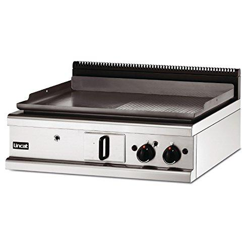 Lincat Opus 700 Natural Gas Griddle Half Ribbed 900mm Power: 18kW, 61,400Btu. Dimensions: 450(H)x 900(W)x 737(D)mm Weight 98kg