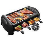 LINLIN Multi-function Smokeless Grill BBQ Table Top Grill Easy Cleanup Household Non-stick Electric Grill and Thermostat Drip Tray Tabletop Griddle