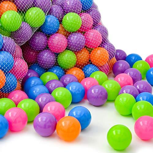LittleTom 6000 colorful hollow Plastic Balls Ø 6 cm to fill ball pits for baby