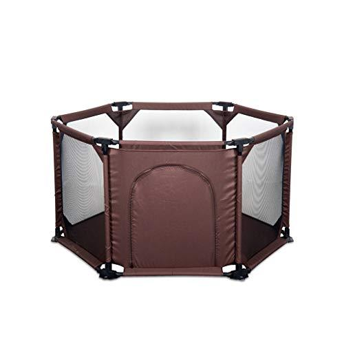 LIUFS-Playpens Protective Fence Children's Anti-fall Game Fence Indoor Learning Walking Safe Crawling Home Marine Ball Pool (color : BROWN)