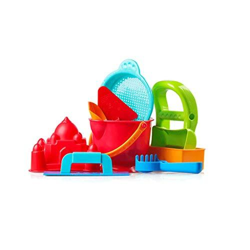 LIUFS-Toy Children's Beach Toy Set 2-6 Years Old Large Bucket Shovel Play Snow (Color : RED, Size : Beach toy)