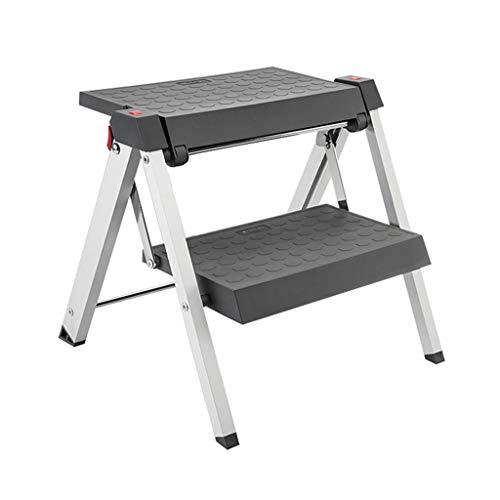 Liuwenan Folding stool step stool shoe changing stool child chair free installation portable stool folding household chair,Bearing weight 150kg (Color : GRAY, Size : 40.5 * 41 * 39CM)