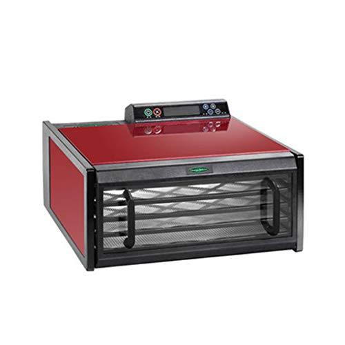 LIXHGJ Digital Food Dehydrator, Electric Timing Constant Temperature 5 Layer Plastic Tray 400W Red Vegetable Dryer
