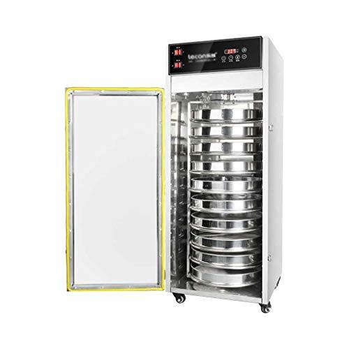 LIXHGJ Digital Fruit Dehydrator, Electric Timing Constant Temperature 10 Layer Stainless Steel Tray Commercial Drying Tea 1500W Silver Food Drying Machine