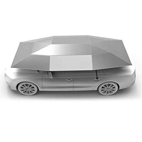 LMHX Car Rooftop Tent Cover Folded Portable Automatic Protection Umbrella Shelter Remote Control Car Hood,Silver