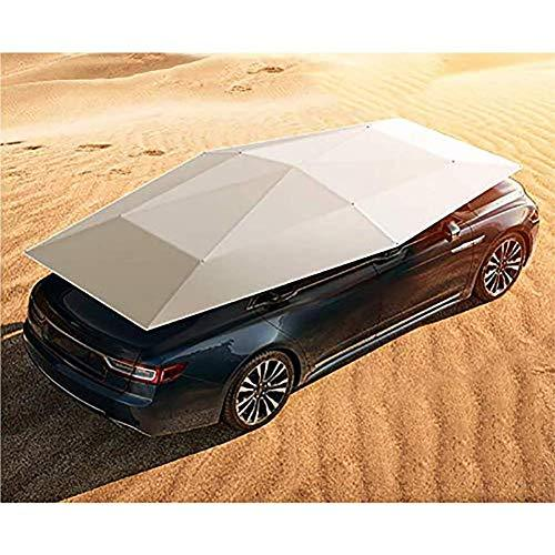 LMHX Car Rooftop Tent Silver Cover Automatic Protection Umbrella Shelter Universal Remote Control Car Hood