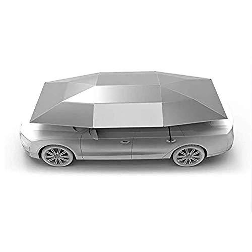 LMHX Remote Control Car Rooftop Tent Cover Folded Portable Automatic Protection Umbrella Shelter Four Seasons Universal Car Hood, Silver
