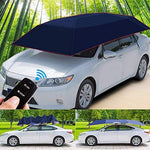 LMHX Rooftop Tent Carport Semi-Automatic Car Roof Tent Foldable Car Canopy with Remote Control, 4.1x2.25 m