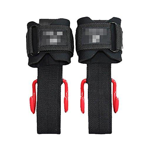 Lmzyan Weightlifting Rebar With Wrist Protection, Strength Training Dumbbells Men and Women Wrist Wrap Strap Supports, black