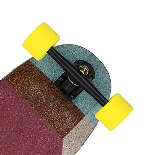 Loaded Boards Cantellated Tesseract Bamboo Longboard Skateboard Complete 80a Kegel Wheels 50 Paris