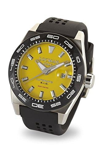 Locman Italy Men's Analog Automatic-self-Wind Watch with Rubber Strap 0215V2-0KYLNKS2K