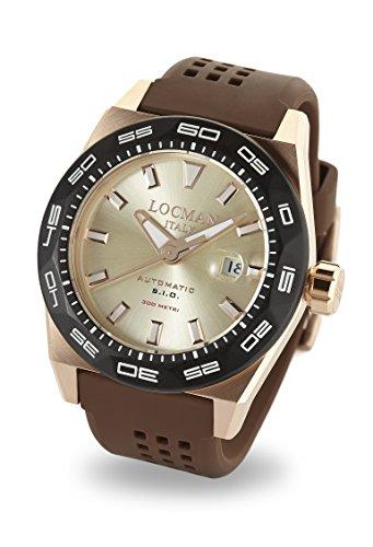 Locman Italy Men's Analog Automatic-self-Wind Watch with Rubber Strap 0215V6-RKAV5NS2N