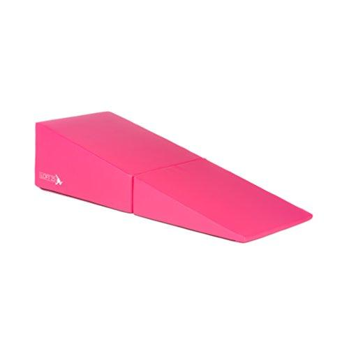 Loft 25 Gymnastics Training 'Aurora' Pink Large Folding Incline Mat Gym Wedge