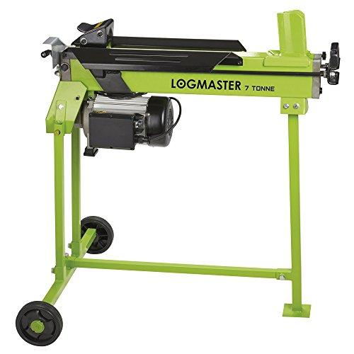 "Logmaster 7 Ton Hydraulic Log Splitter Machine, Electric Powered with Stand, Cuts Timber Up to 520mm / 20.5"", 2200W"