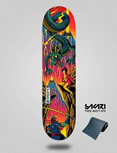 lordofbrands Darkstar Deck Cameo Wilson Backlight 8.25 Monopatín Skate Skateboard Deck