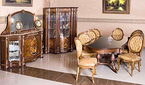LouisXV baroque dining room antique style Replikat glass cabinet sideboard table chair