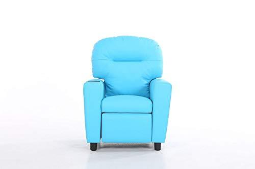 Love Home Kid leather Armchair, Sturdy wood construction Kid sofa Upholstered open foam Child sofa Toddler furniture for living room -blue 60x54x80cm(24x21x31)