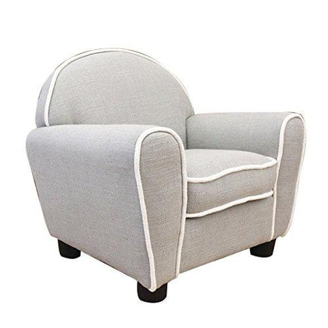 LRSFM Children's Comfortable Seat Single Sofa Chair Green Material Simple Modern Seat Children's Room Reading Seat (color : GRAY)