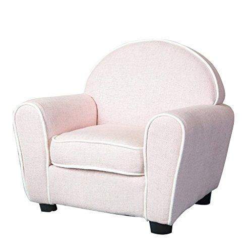 LRSFM Children's Comfortable Seat Single Sofa Chair Green Material Simple Modern Seat Children's Room Reading Seat (color : PINK)