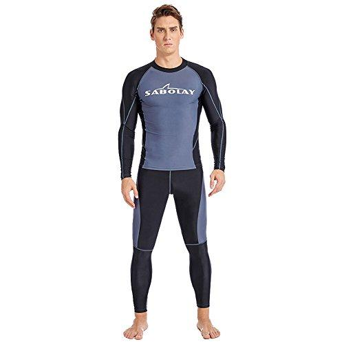 LSERVER Men´s Full Length Fitness Watersports Wet Suits Quick-Dry Jumpsuit Summer Sun-proof Surfing Diving Bodyboarding Clothing