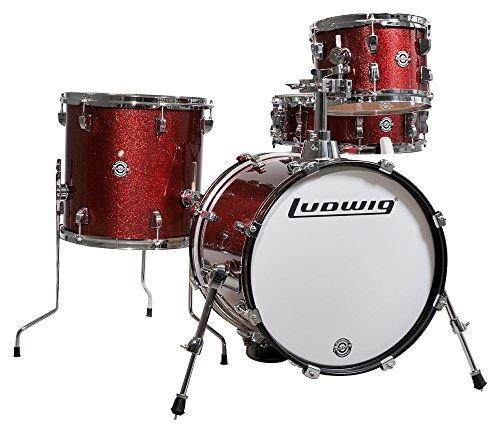 Ludwig LC179X025 Breakbeats 4 Piece Shell Pack With Riser Wine Sparkle