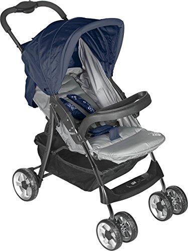lulabi Lolli Structured Pushchair with Tray, Grey/Blue
